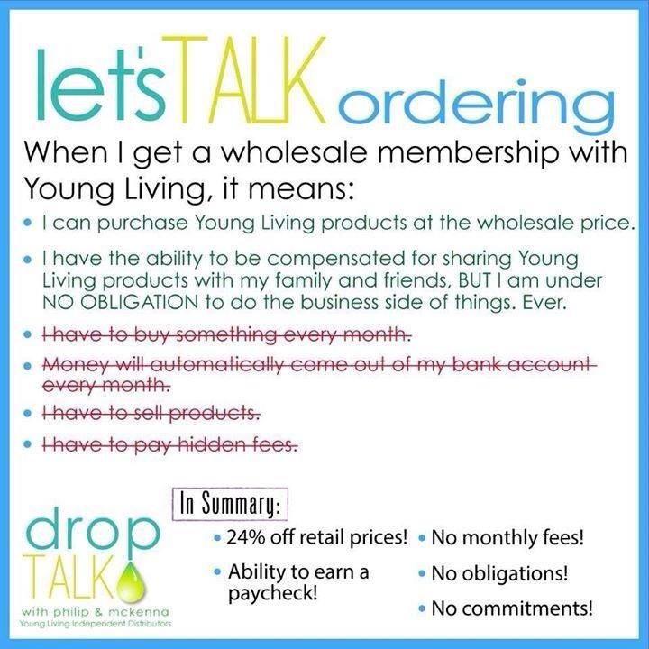 Lady of Lyme: Difference between a customer and wholesale member for Young Living