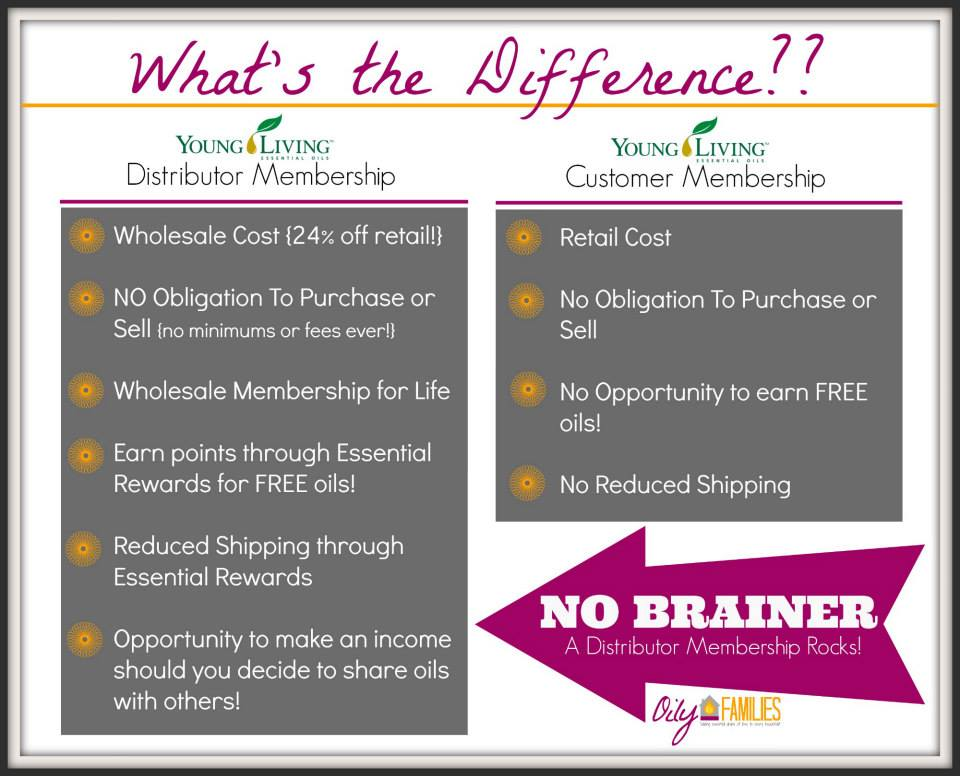 Lady of Lyme: Signing up for Young Living. What is the difference between a customer and wholesale member?